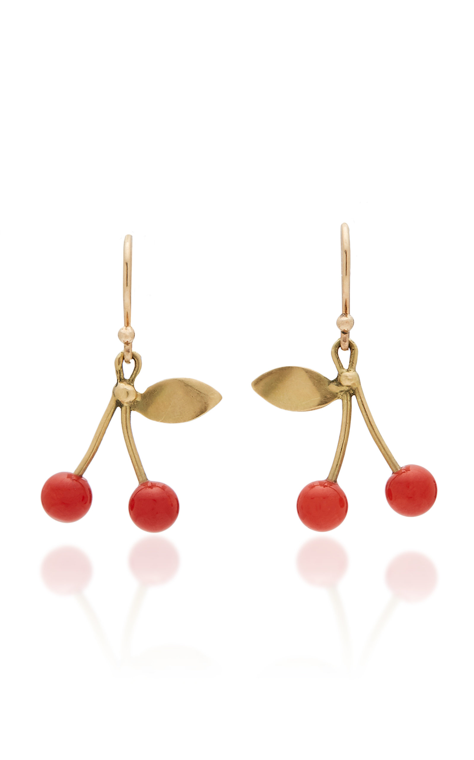 ANNETTE FERDINANDSEN M'O EXCLUSIVE: RED CORAL CHERRY EARRINGS