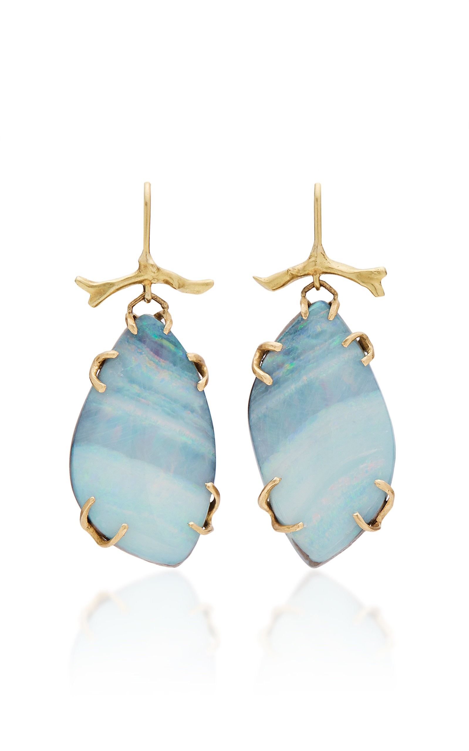 ANNETTE FERDINANDSEN M'O EXCLUSIVE: ONE-OF-A-KIND BOULDER OPAL BRANCH EARRINGS
