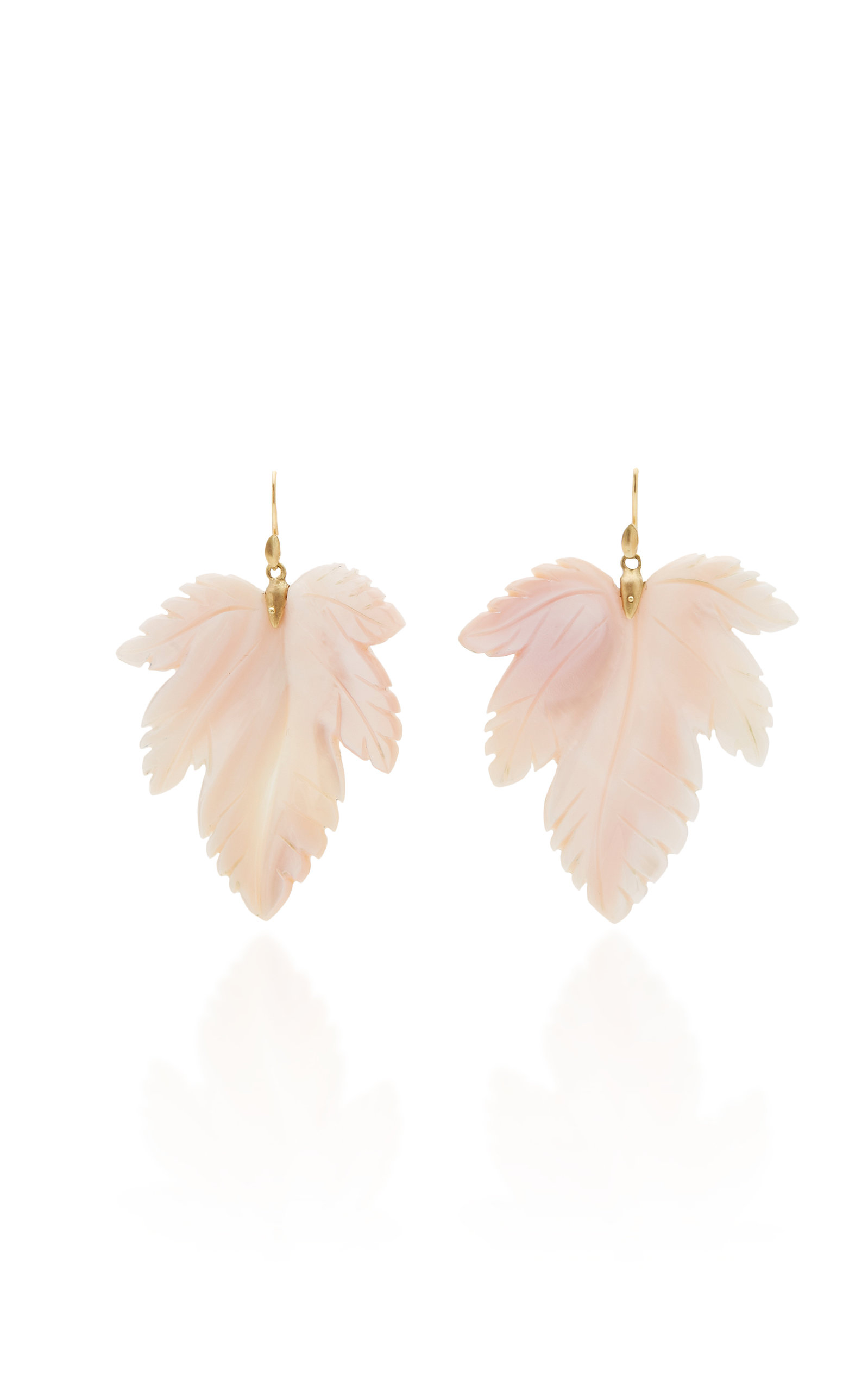 ANNETTE FERDINANDSEN M'O EXCLUSIVE: MOTHER OF PEARL FANCY LEAF EARRINGS