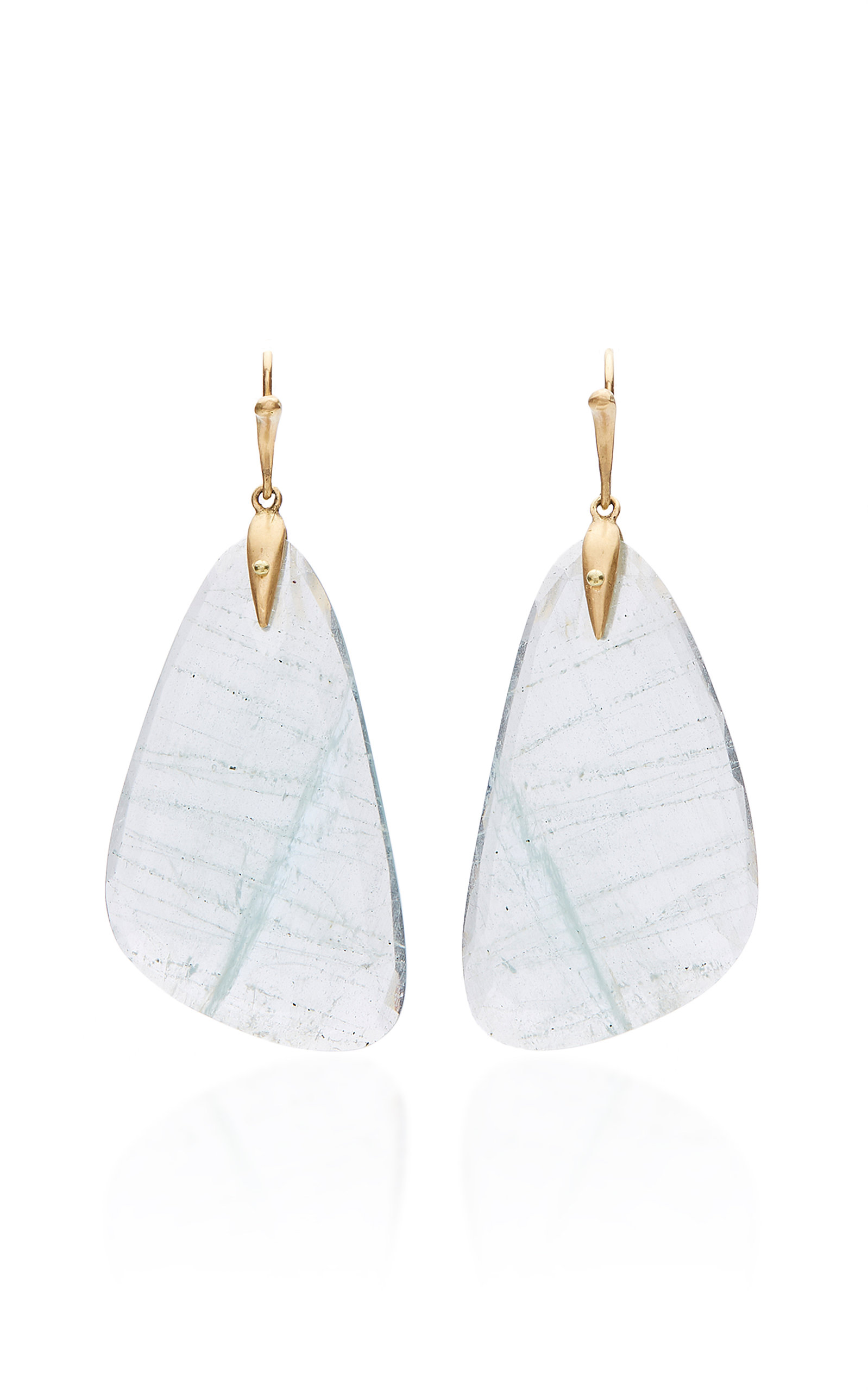 ANNETTE FERDINANDSEN M'O EXCLUSIVE: ONE-OF-A-KIND AQUAMARINE TROPICAL WING EARRINGS
