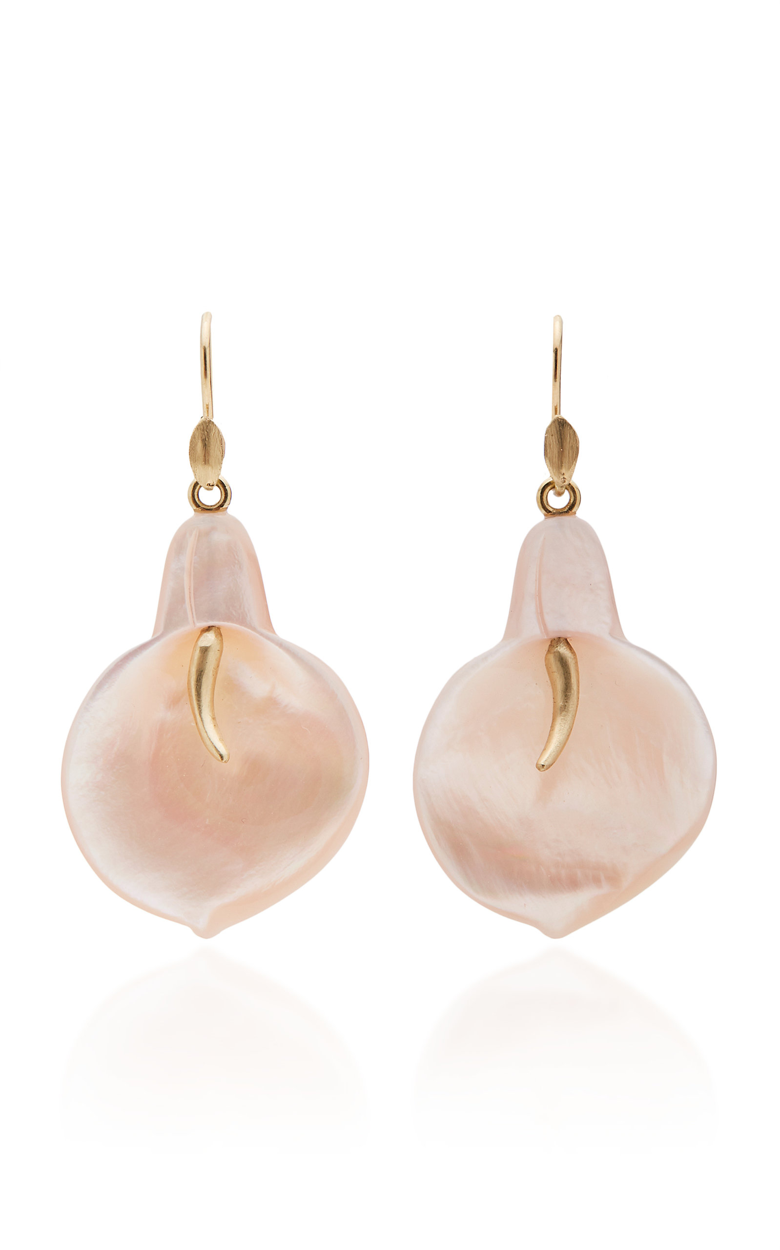 ANNETTE FERDINANDSEN M'O EXCLUSIVE: LARGE MOTHER OF PEARL CALA LILY EARRINGS