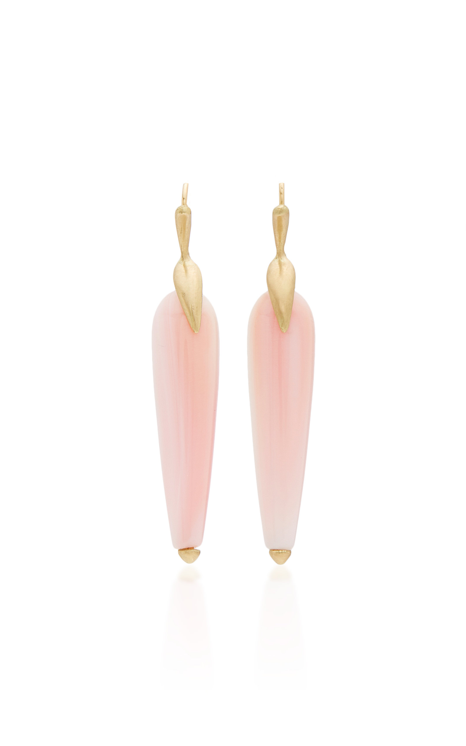 ANNETTE FERDINANDSEN M'O EXCLUSIVE: PINK CONCH SIMPLE BRID EARRINGS