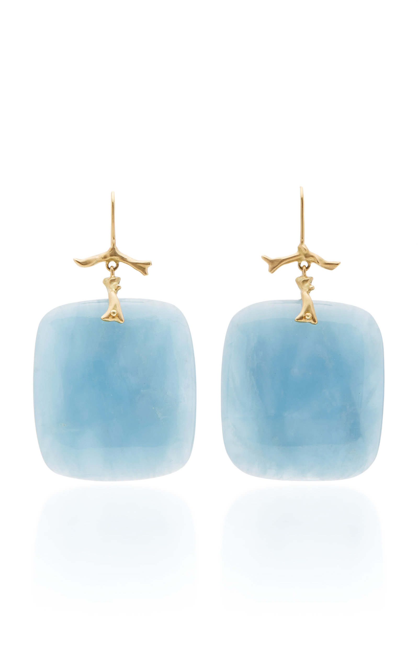ANNETTE FERDINANDSEN M'O EXCLUSIVE: ONE-OF-A-KIND AQUAMARINE BRANCH EARRINGS