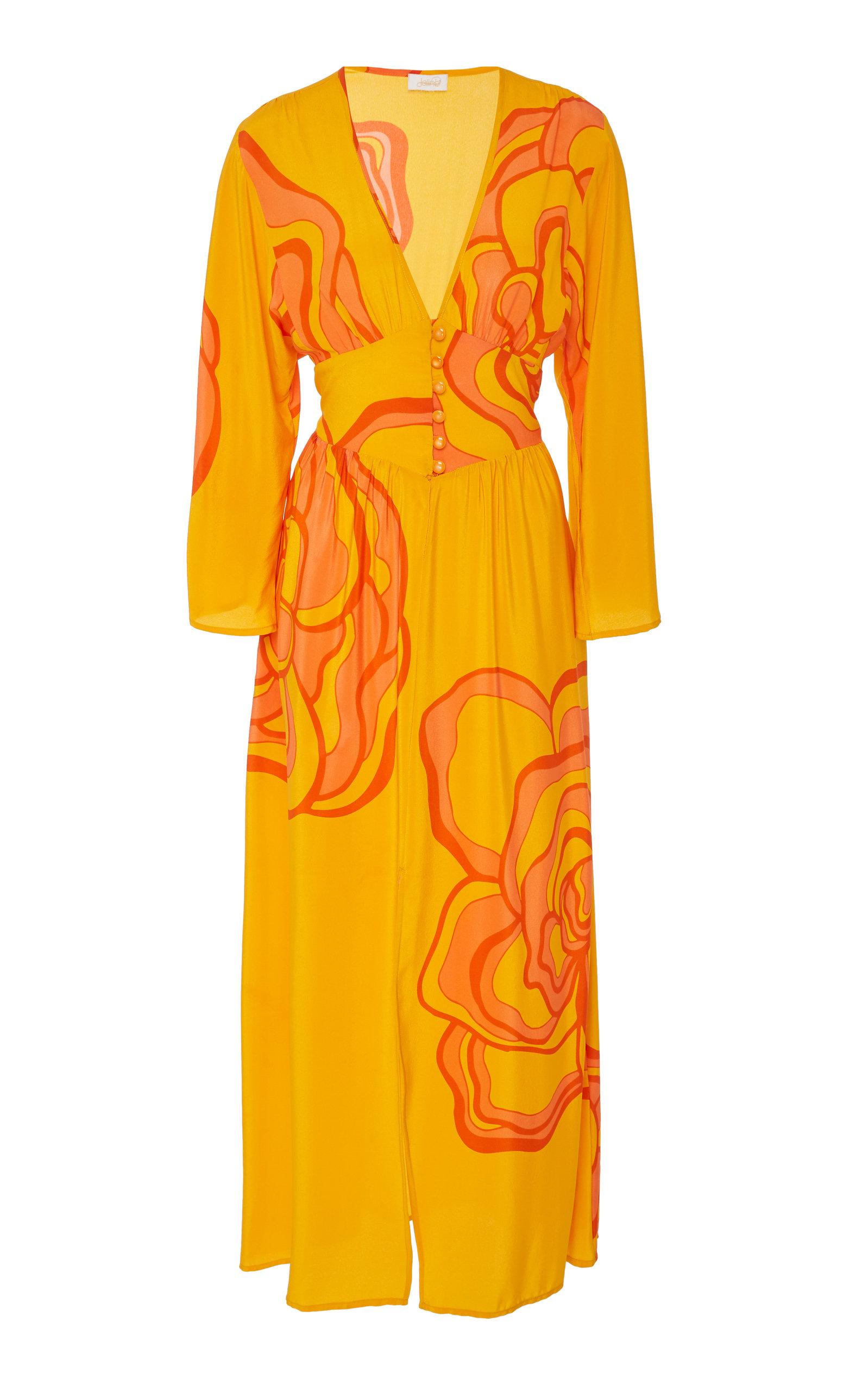 36041633b64c Ellen Print Silk Maxi Dress by Jaline | Moda Operandi