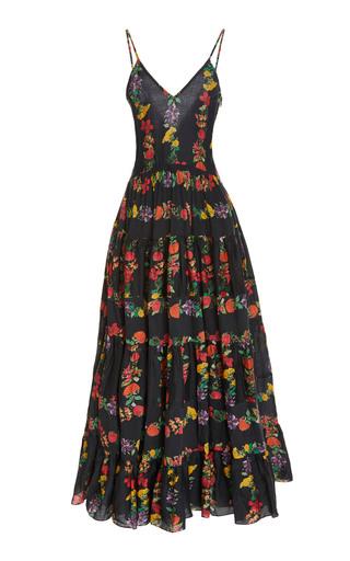 CAROLINA K | Carolina K Marieta Tiered Floral Cotton-Blend Maxi Dress | Goxip