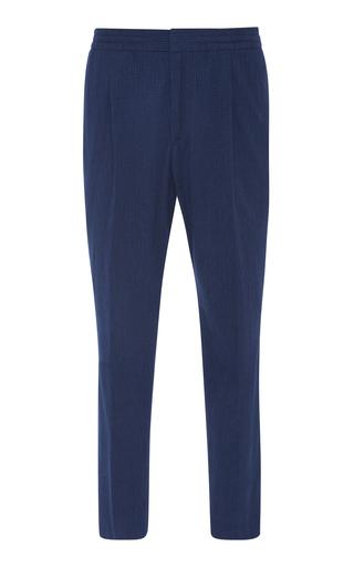 OFFICINE GENERALE | Officine Générale Drew Cotton Seersucker Pants | Goxip