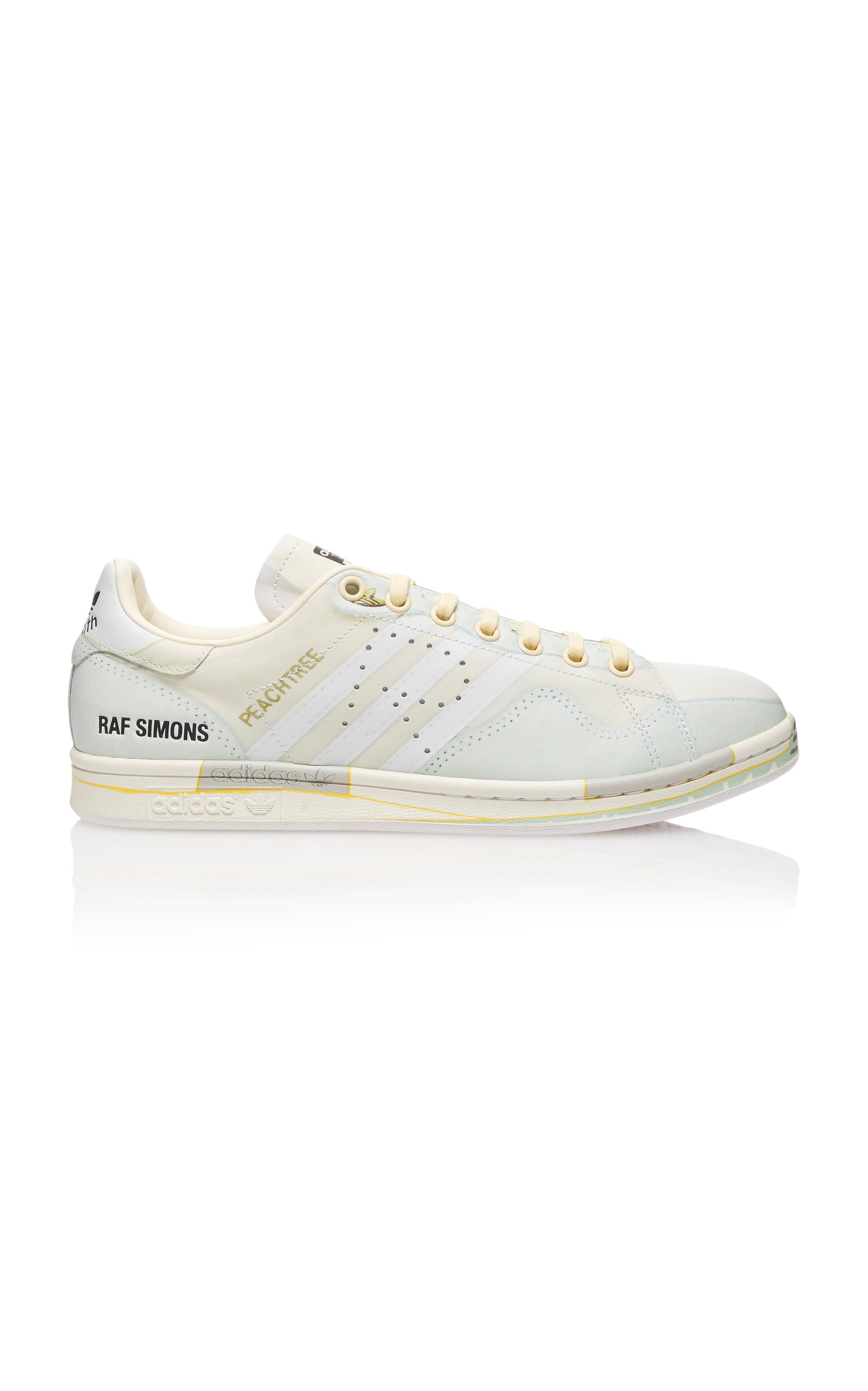 ADIDAS X RAF SIMONS | Adidas By Raf Simons RS Peach Stan Leather Sneakers | Goxip
