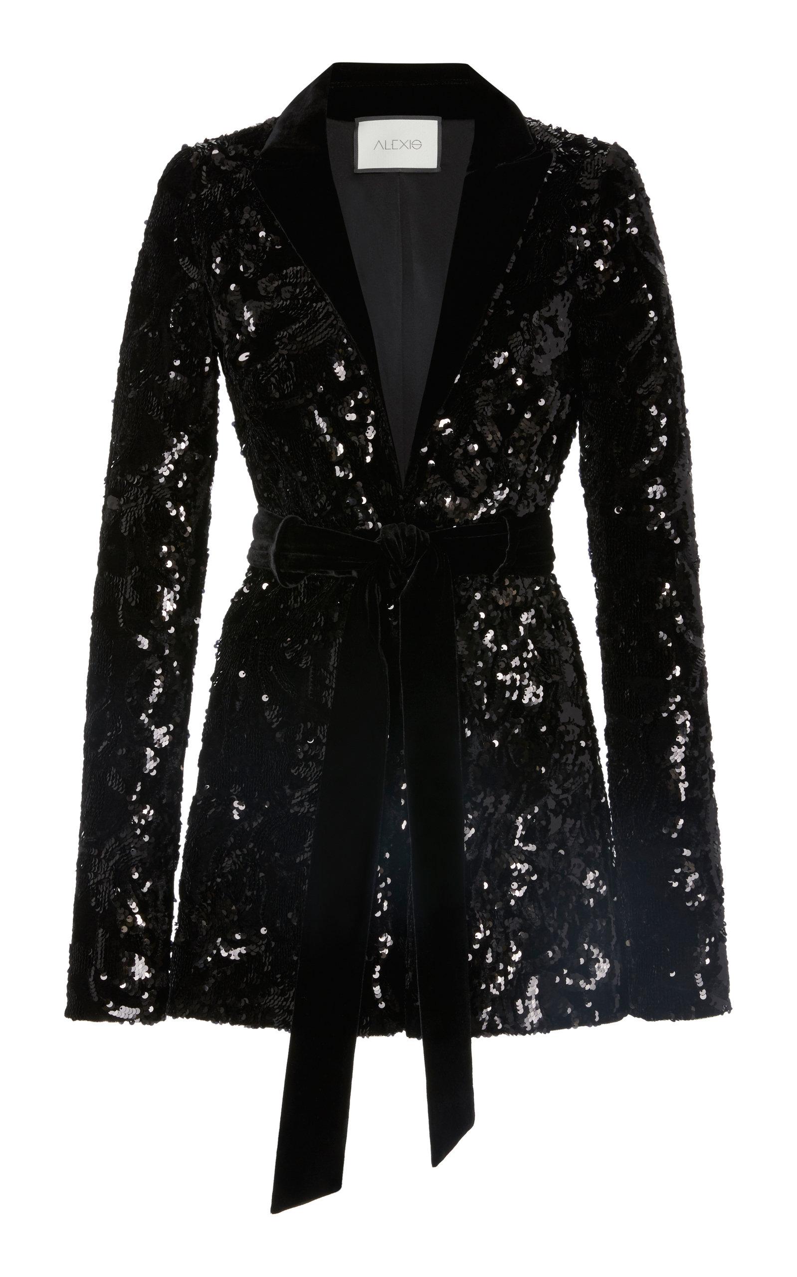 Rashida Sequin Jacket in Black