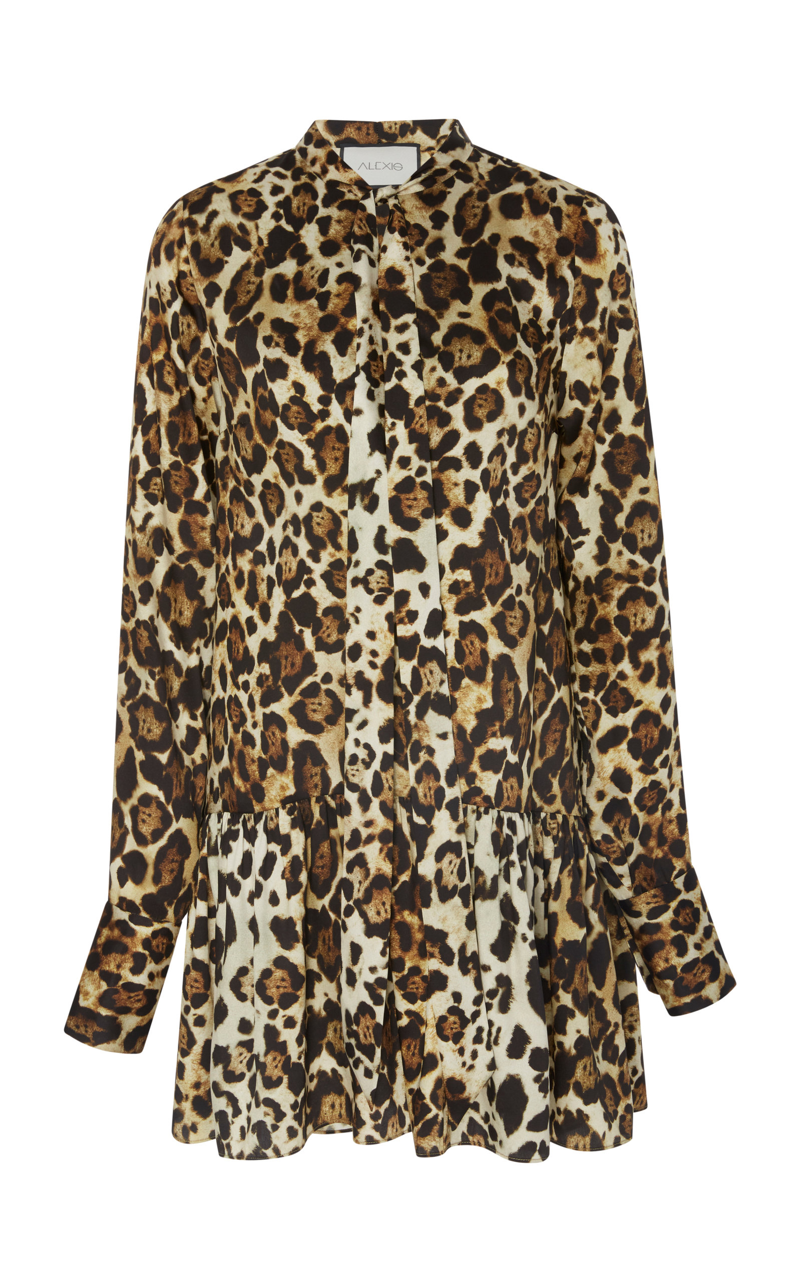 Lydia Leopard Mini Dress in Brown