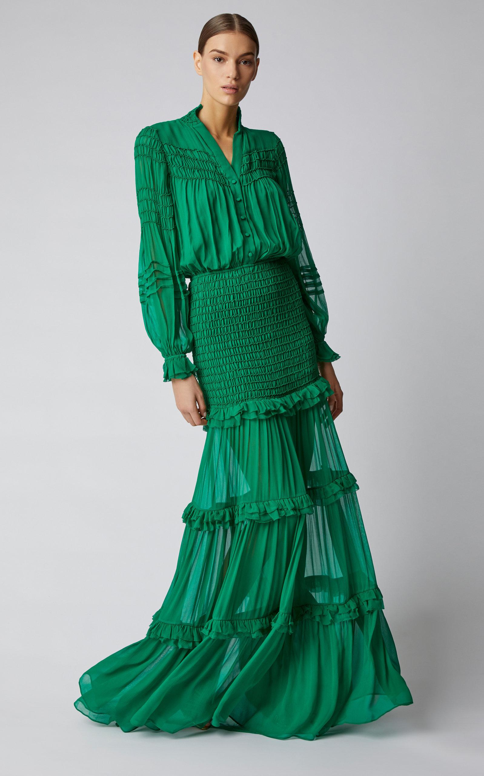 e46c9d19ab99 Sinclair Ruffled Silk-Chiffon Maxi Dress by Alexis | Moda Operandi
