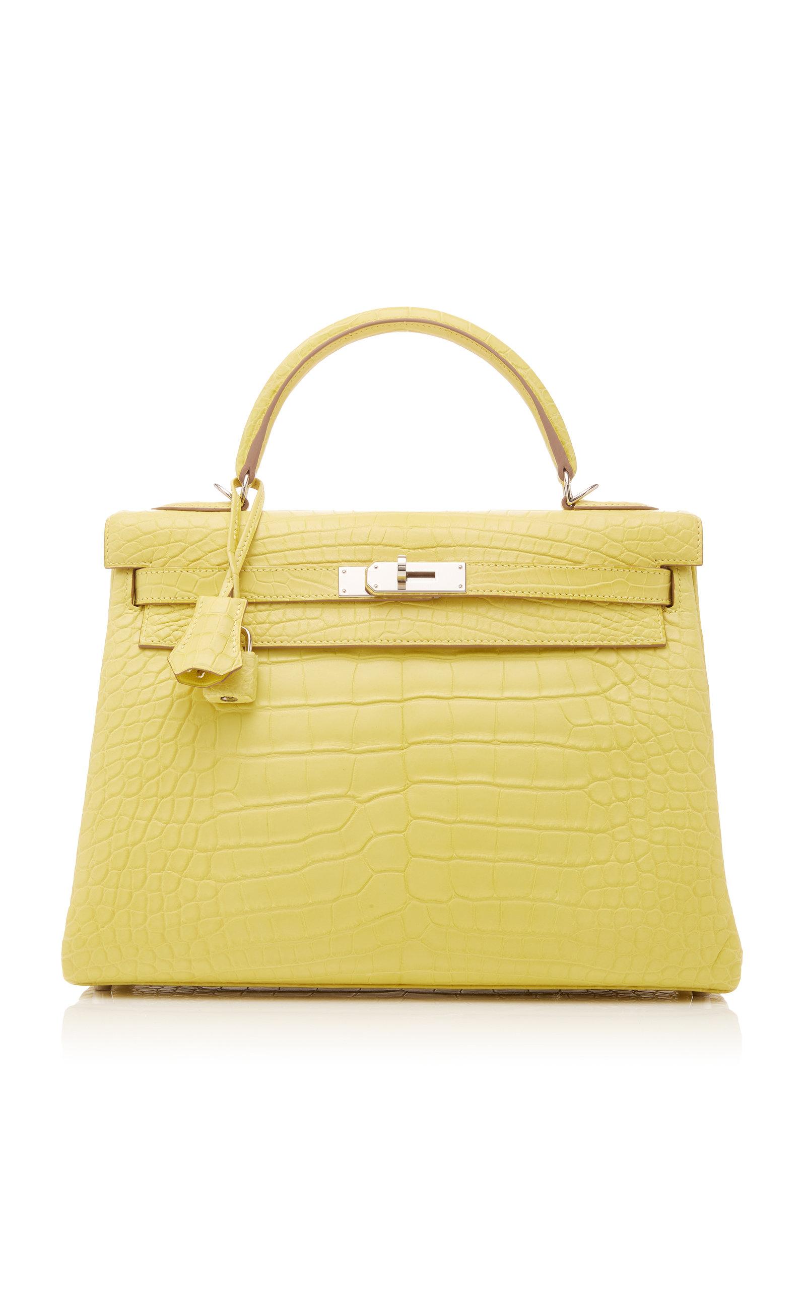 c87f4d9fd0 Hermes VintageHermes 32cm Lime Matte Alligator Kelly Bag. CLOSE. Loading