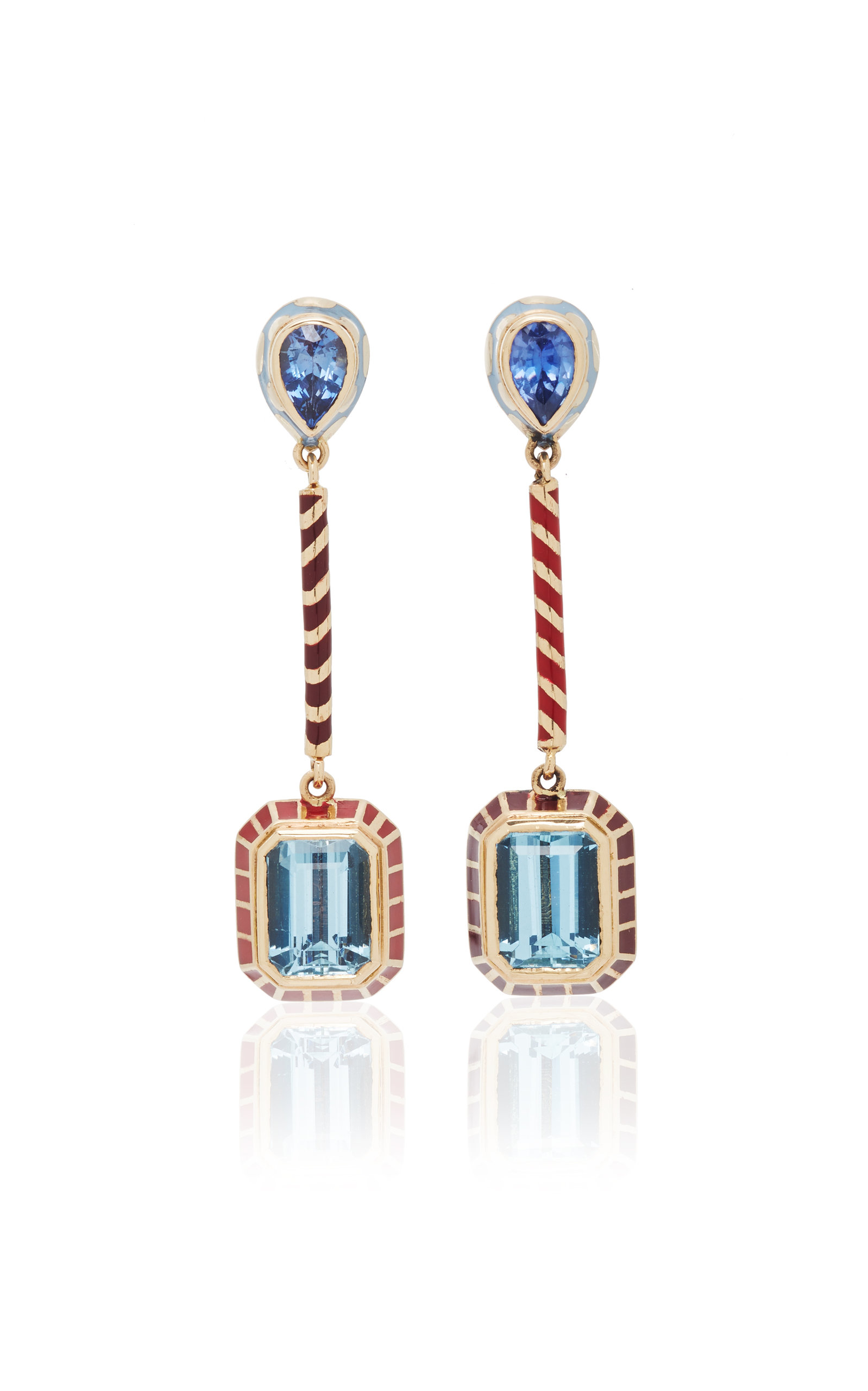 ALICE CICOLINI CANDY LACQUER LONG DROP EARRING IN AQUAMARINE