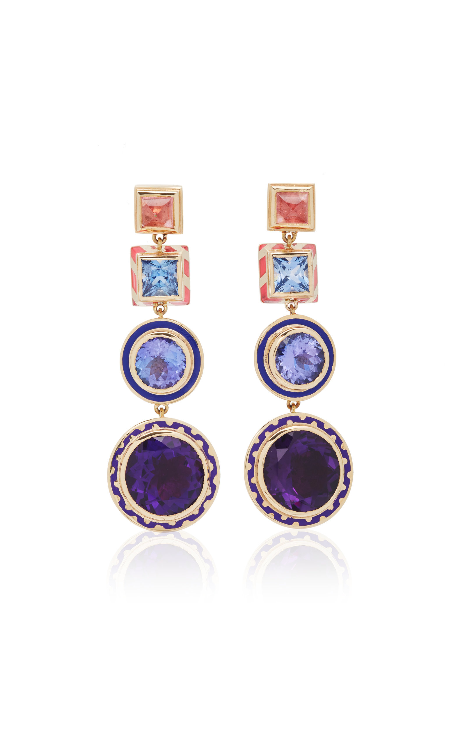 ALICE CICOLINI CANDY LACQUER CHANDELIER DISCO EARRINGS