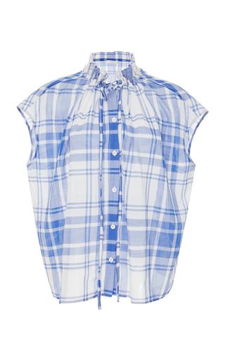 ARAKS | Araks Tirell Plaid Button-Up Cotton Top | Goxip