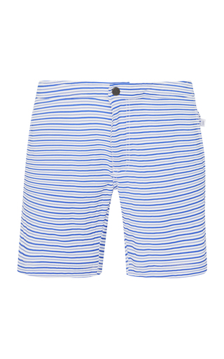 ONIA | Onia Calder Striped Swim Trunks | Goxip