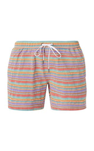 ONIA | Onia Charles Striped Swim Trunks | Goxip