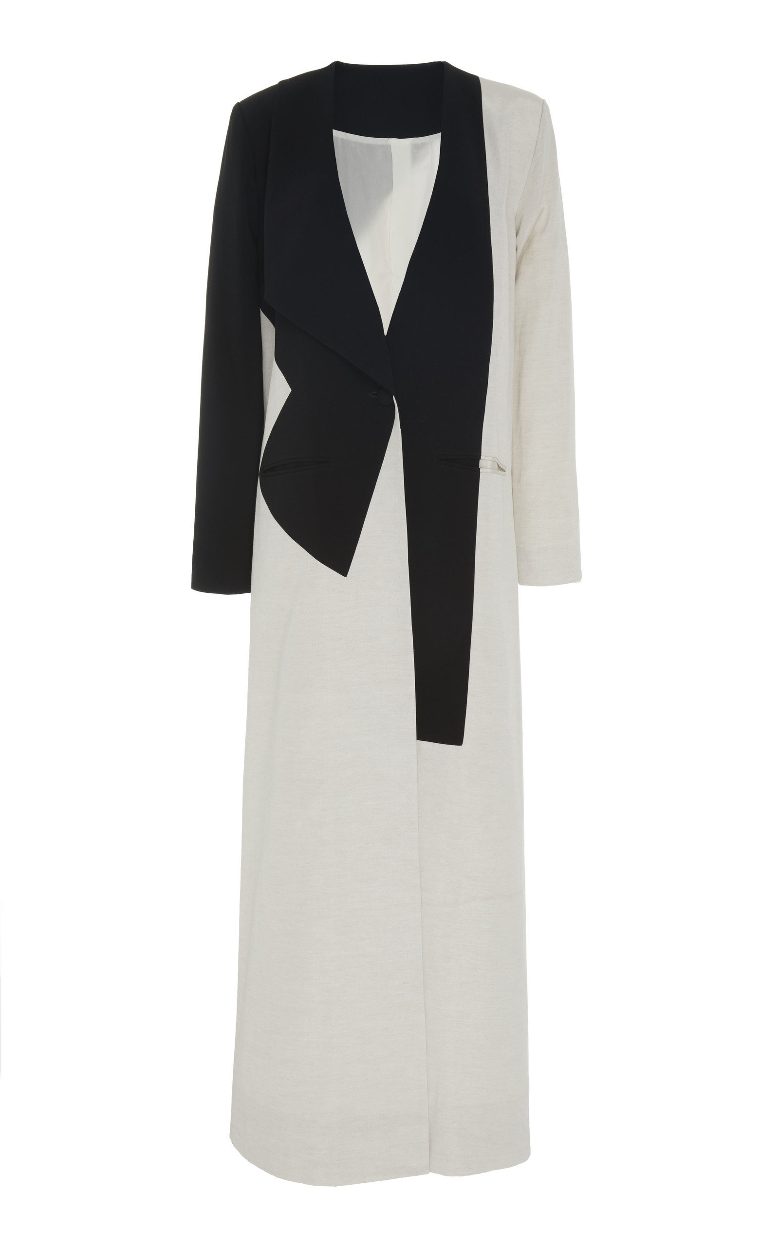 BOUGUESSA CONTRASTED LONG JACKET