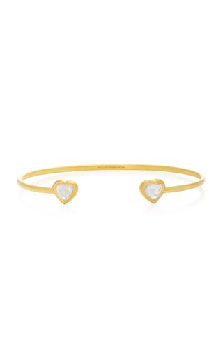 AMRAPALI | Amrapali Kundan 18K Gold and Diamond Heart Cuff | Goxip