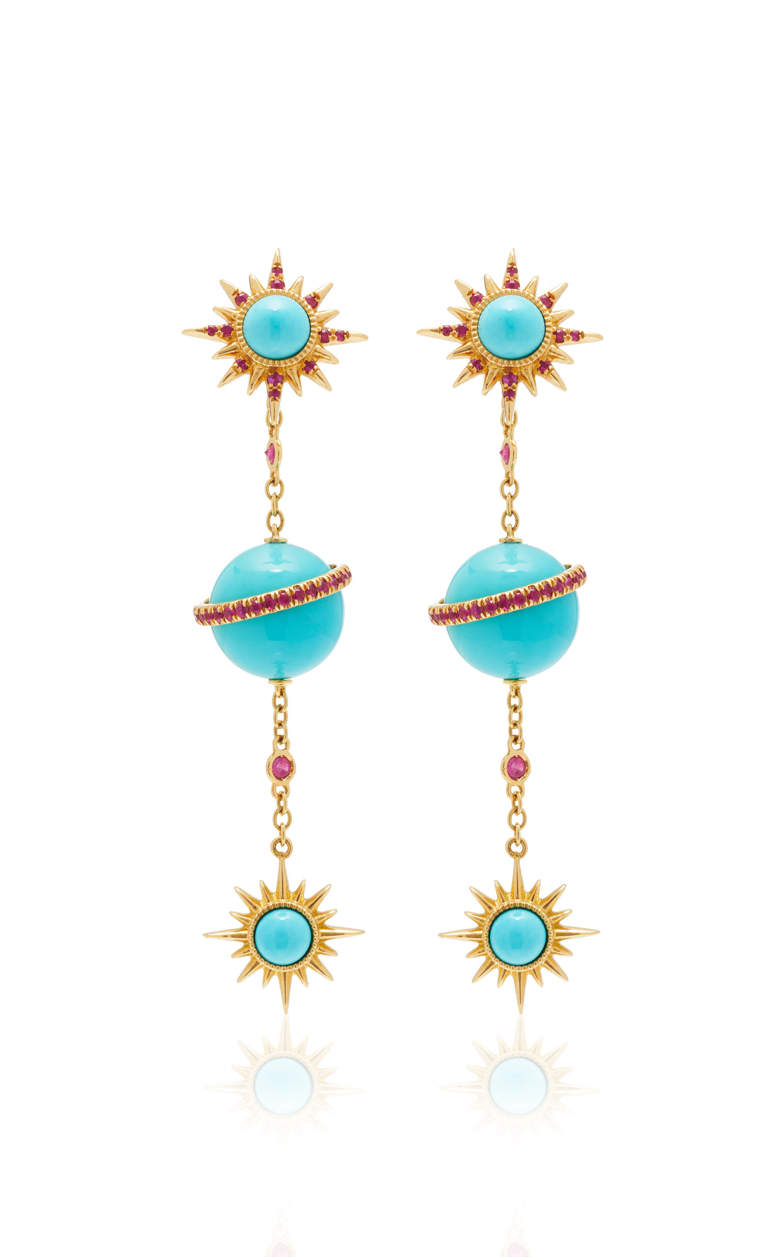 JENNY DEE ELECTRA EARRINGS WITH ELECTRA SPHERICAL EAR CHAIN