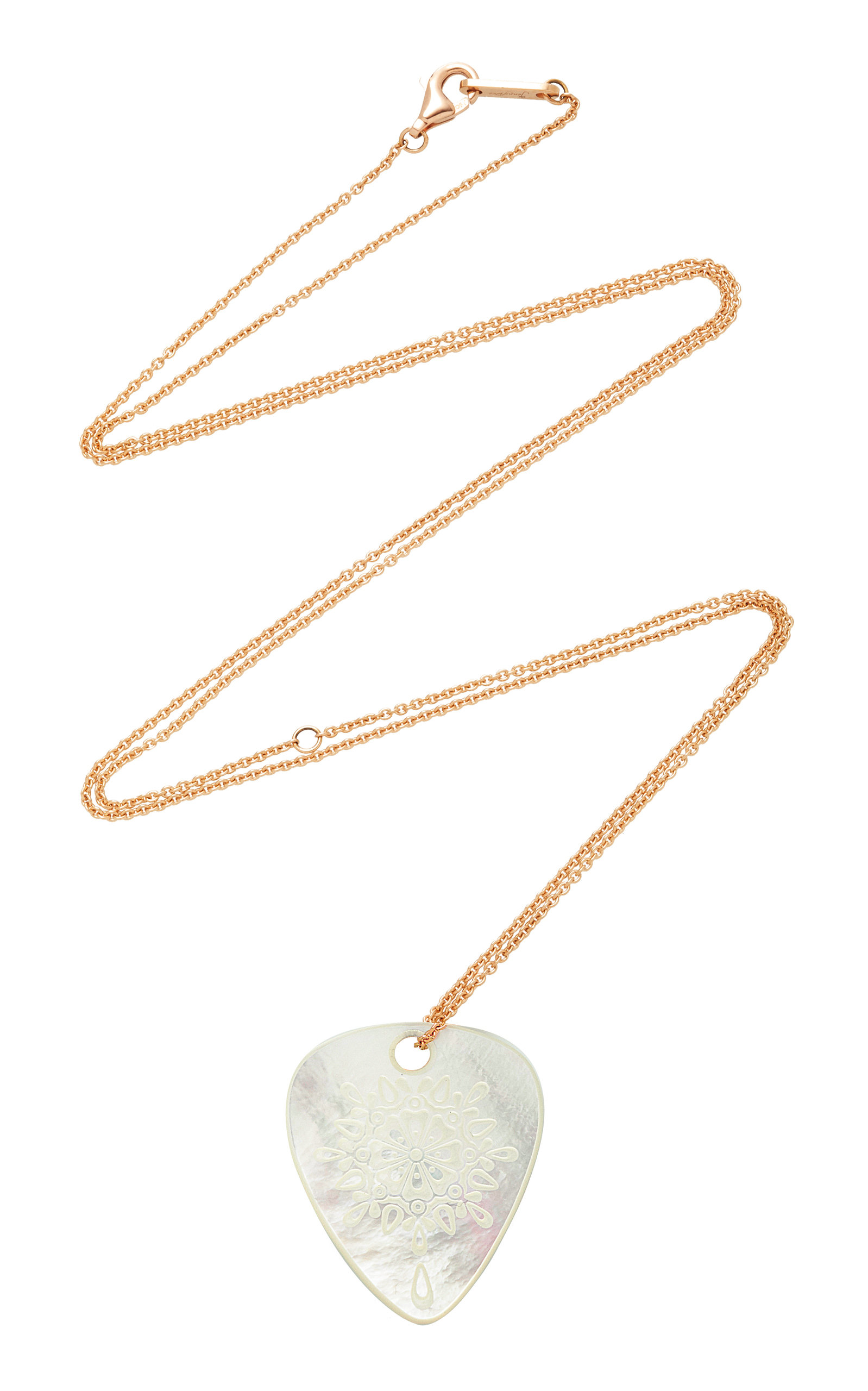 "JENNY DEE Pearl ""Gratitude"" Mandalic Necklace in White"