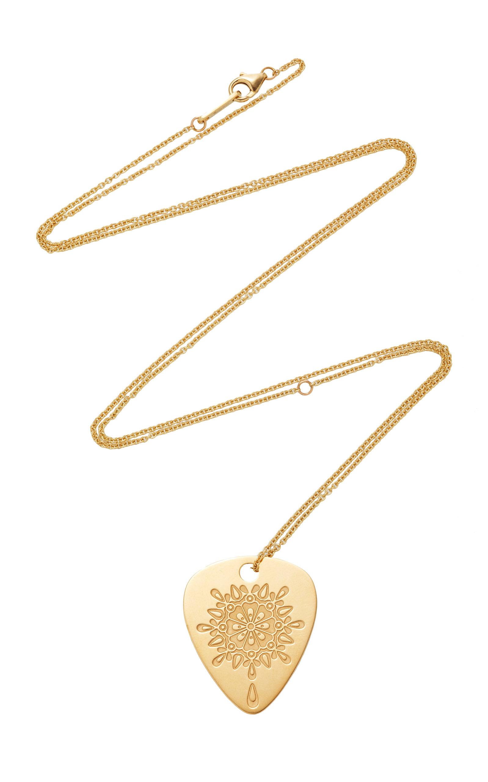 "JENNY DEE GOLDEN ""GRATITUDE"" MANDALIC NECKLACE"