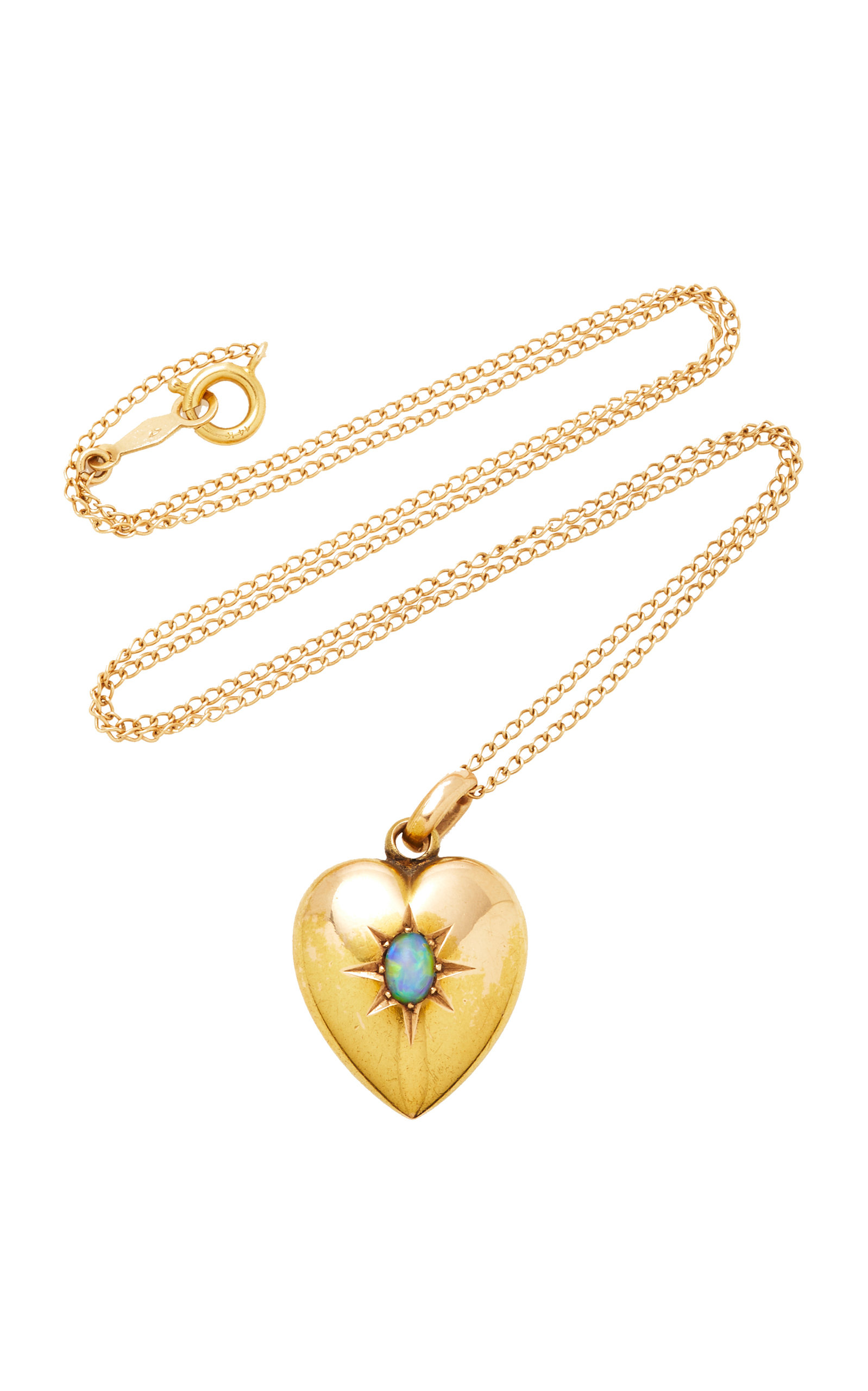 VELA ONE-OF-A-KIND EDWARDAIN OPAL HEART NECKLACE
