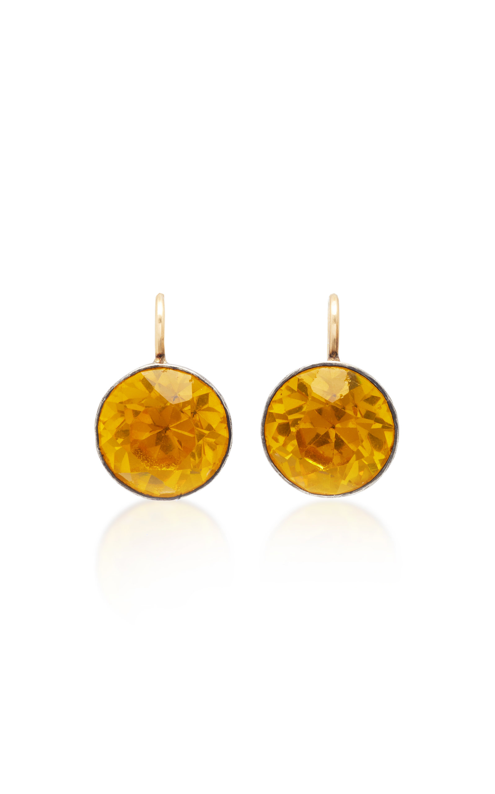 VELA ONE-OF-A-KIND GEORGIAN YELLOW PASTE EARRINGS