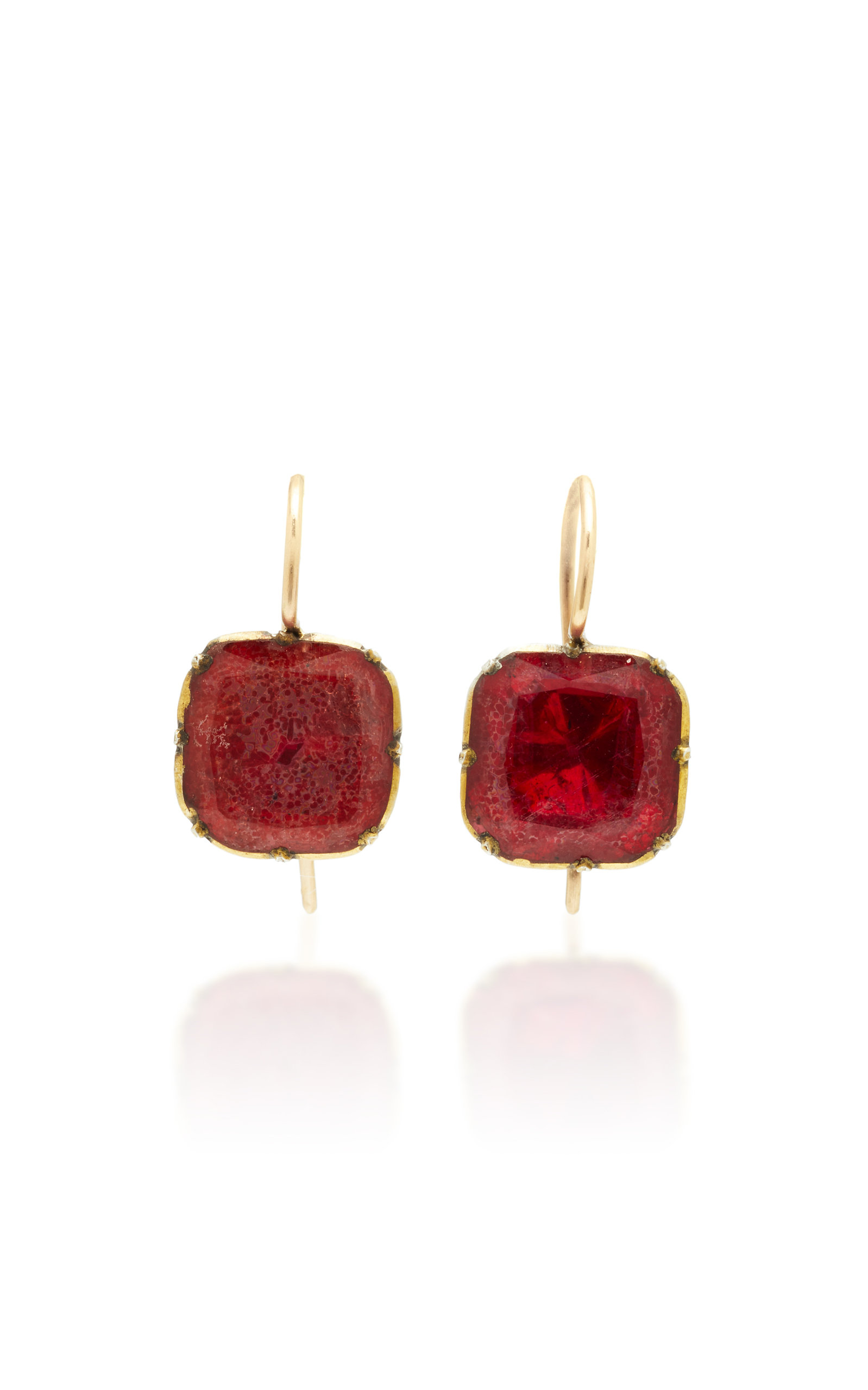 VELA ONE-OF-A-KIND GEORGIAN RED PASTE EARRINGS