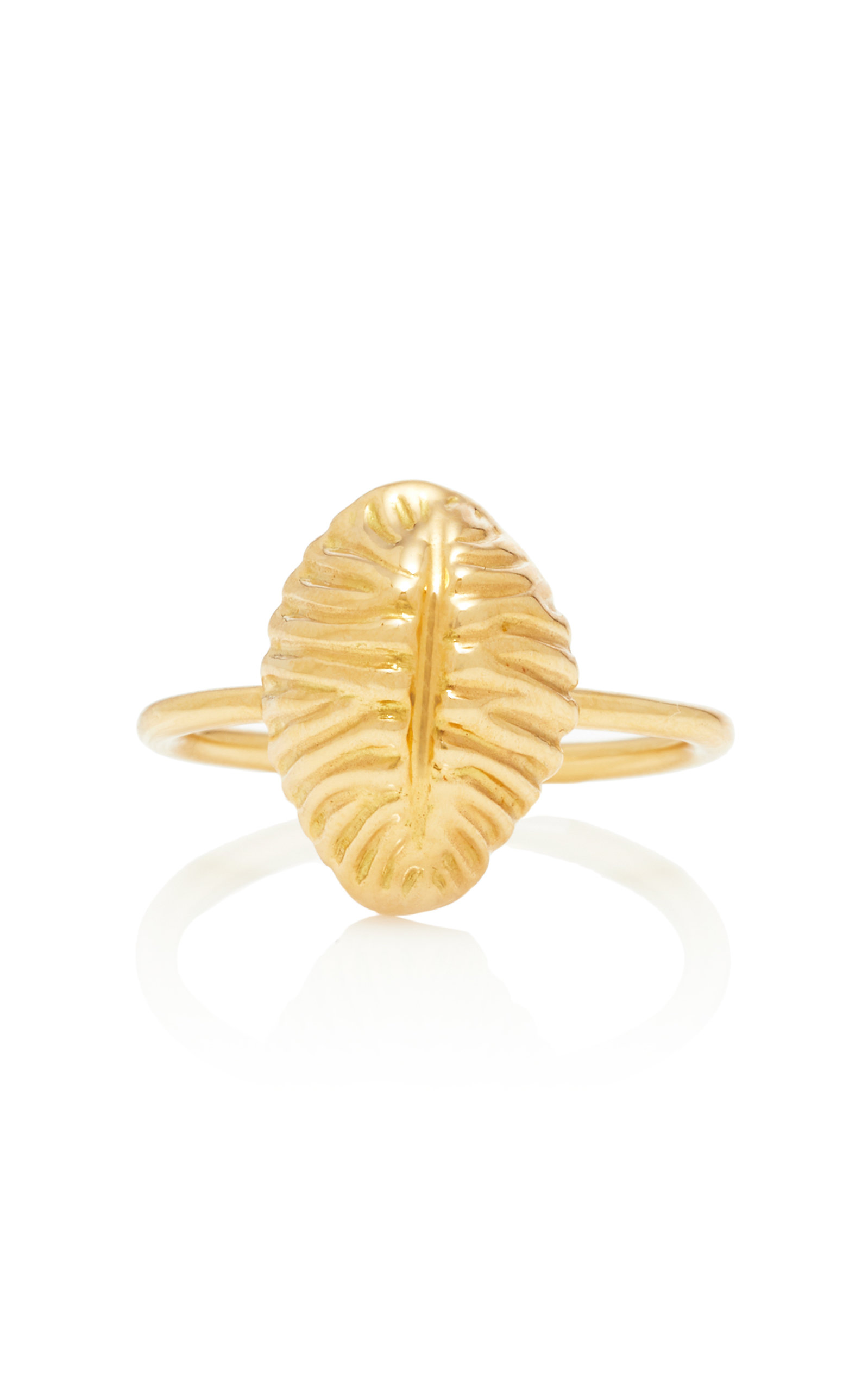 RENNA LARGE THREAD AND SHELL RING