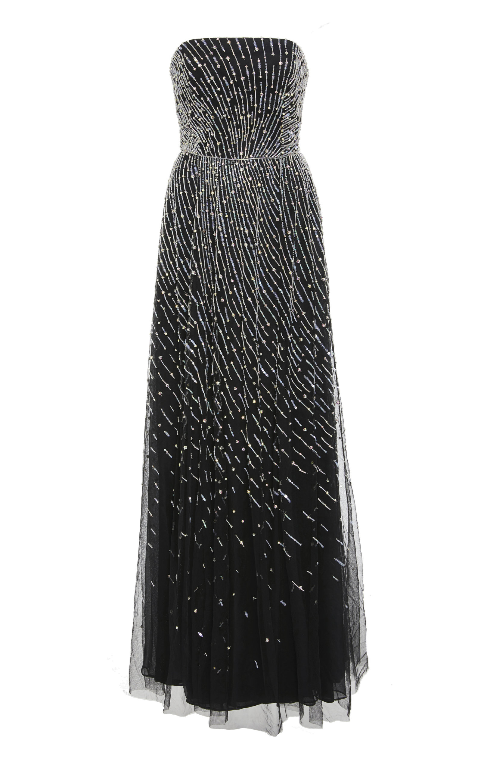 CUCCULELLI SHAHEEN ANDROMEDA STRAPLESS GOWN
