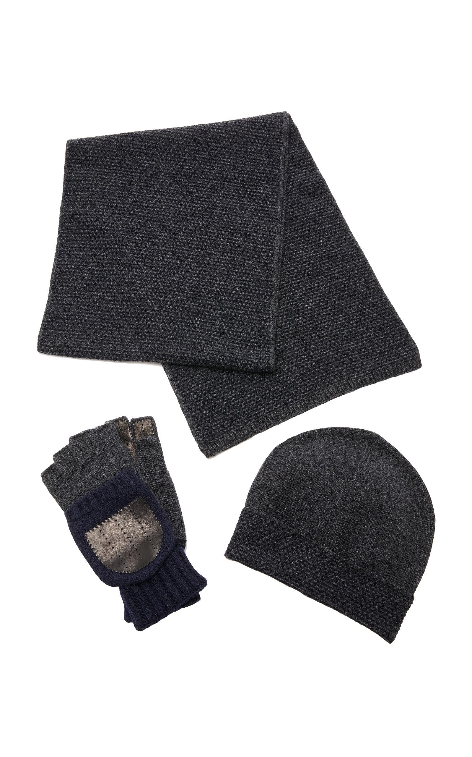 IL BORGO Set-Of-Three Winter Wool Bundle in Navy