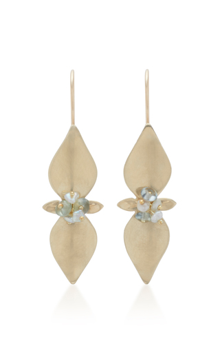 ANNETTE FERDINANDSEN | Annette Ferdinandsen Mint 14K Gold And Pearl Drop Earrings | Goxip