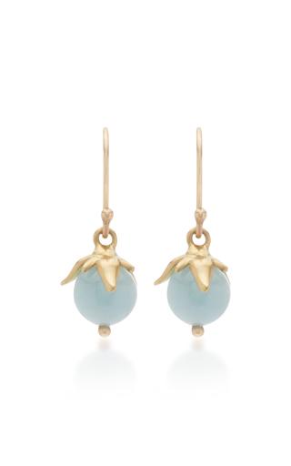 ANNETTE FERDINANDSEN | Annette Ferdinandsen Berries 18K Gold And Aquamarine Drop Earrings | Goxip