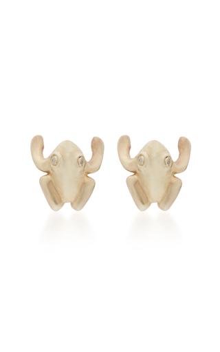 ANNETTE FERDINANDSEN | Annette Ferdinandsen Frog 14K Gold And Diamond Stud Earrings | Goxip