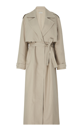 ANNA QUAN | Anna Quan Inez Cotton-Twill Trench Coat | Goxip