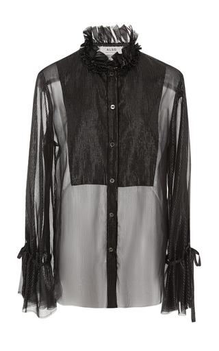 ALSO | ALSO gwenyth sheer metallic blouse | Goxip