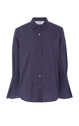 ALSO | ALSO Laurel Striped Cotton-Poplin Top | Goxip