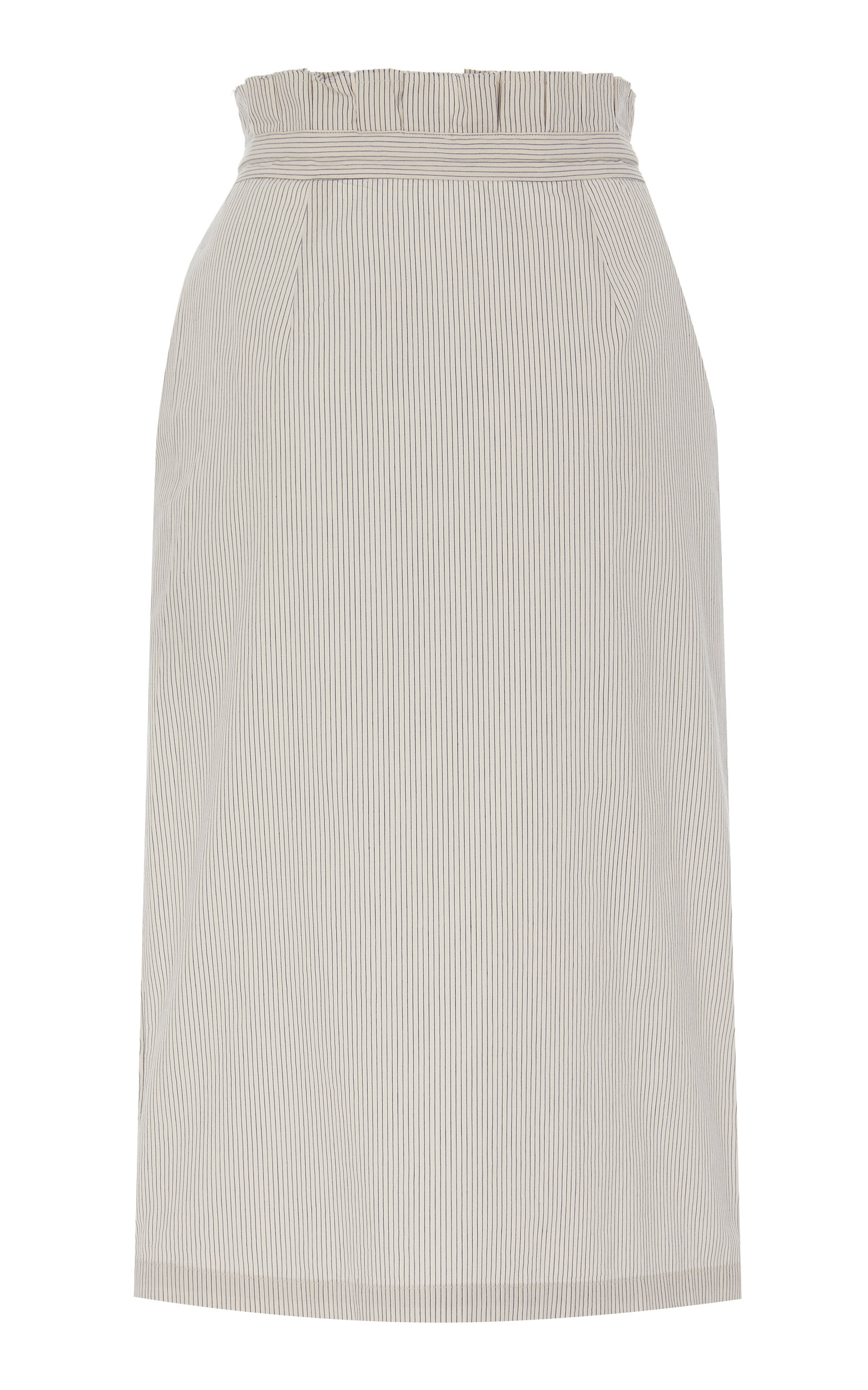 Also CORINNE TIE-DETAILED COTTON-POPLIN MIDI SKIRT