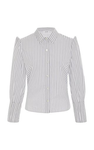 ALSO | ALSO Striped Cotton Button-Up Shirt | Goxip