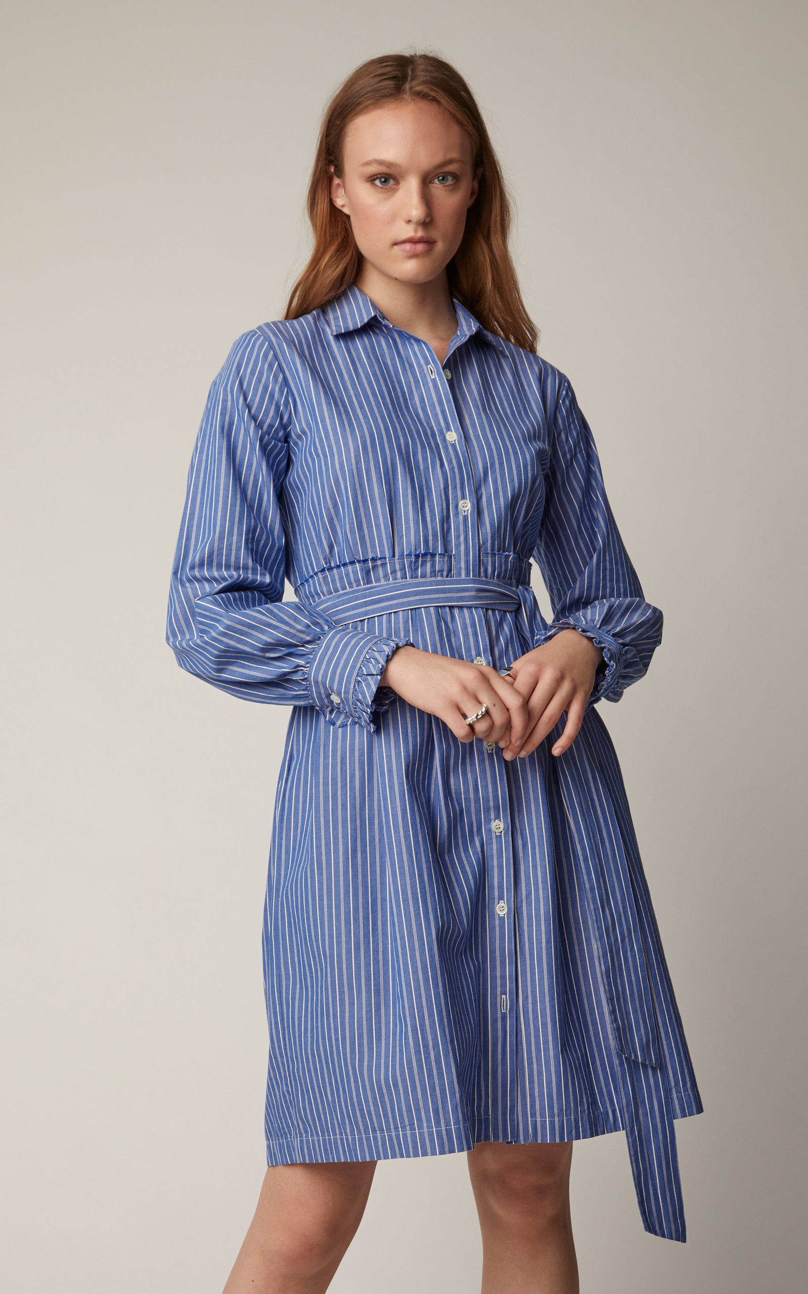 Leandra Cotton Poplin Shirt Dress By Also Moda Operandi