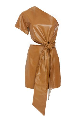 82255a7cd8 Strapless Long Leather Dress by Zeynep Arçay