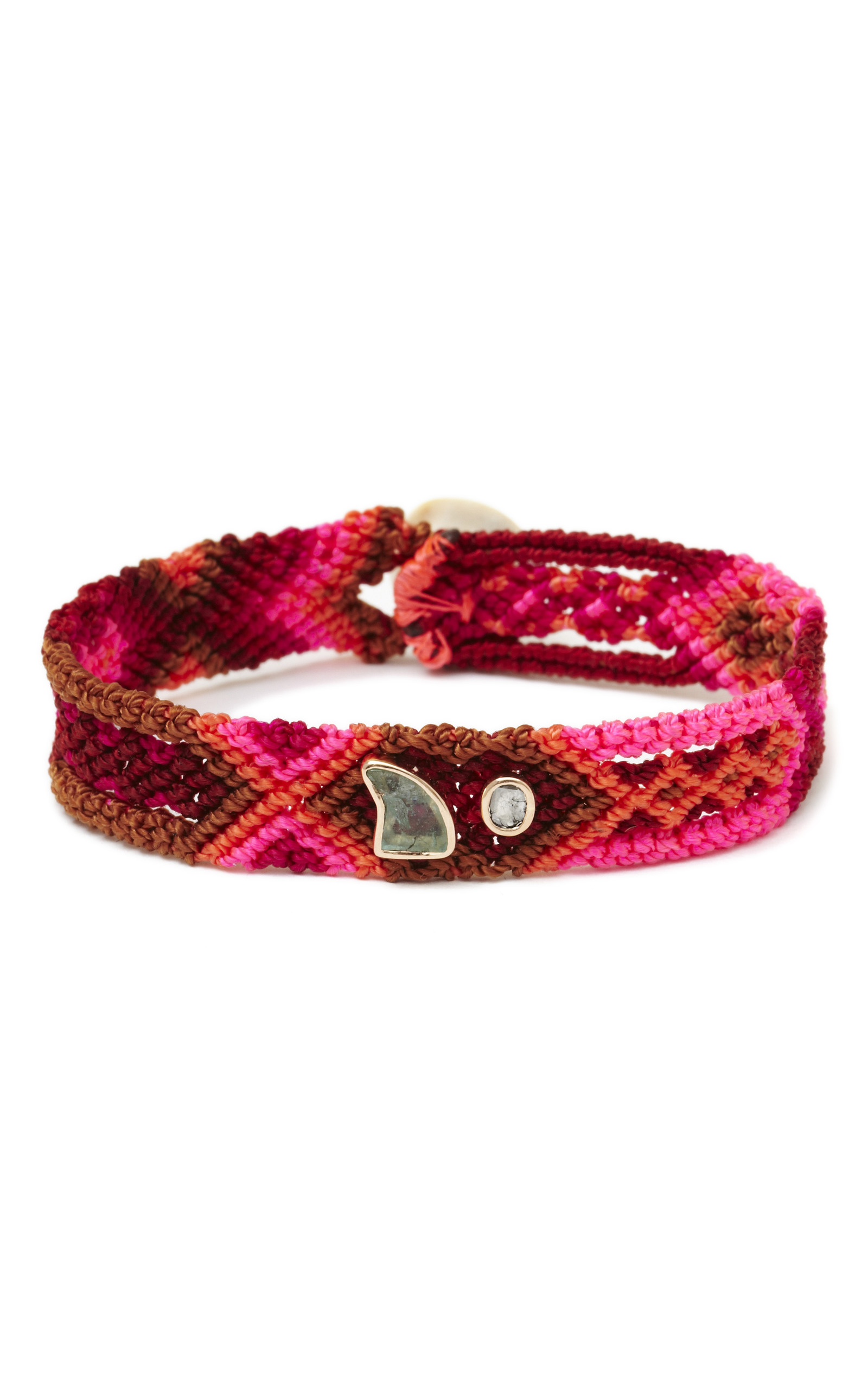 moonstone product jewelry hand gallery dezso by in sara pink woven handwoven lyst bracelet beltran