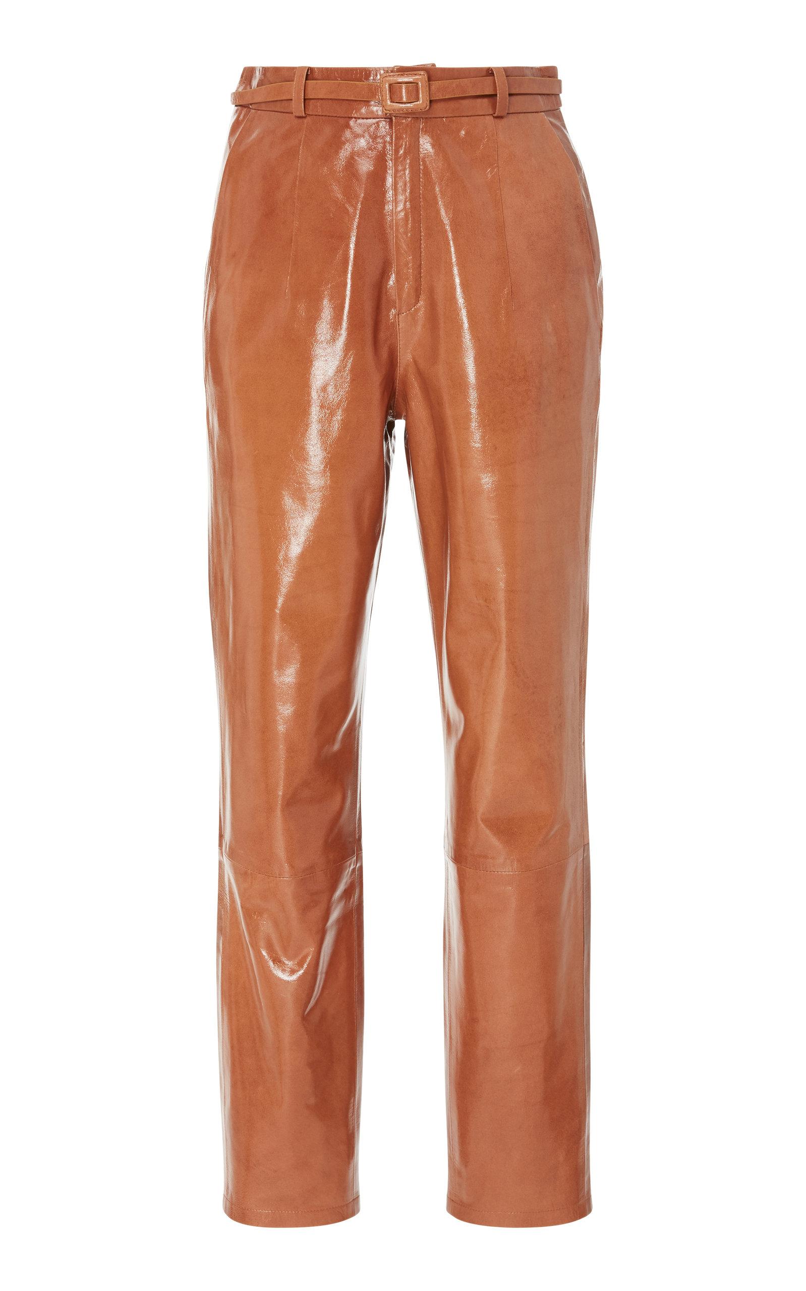 ZEYNEP ARCAY MOM STRAIGHT-LEG LEATHER PANTS