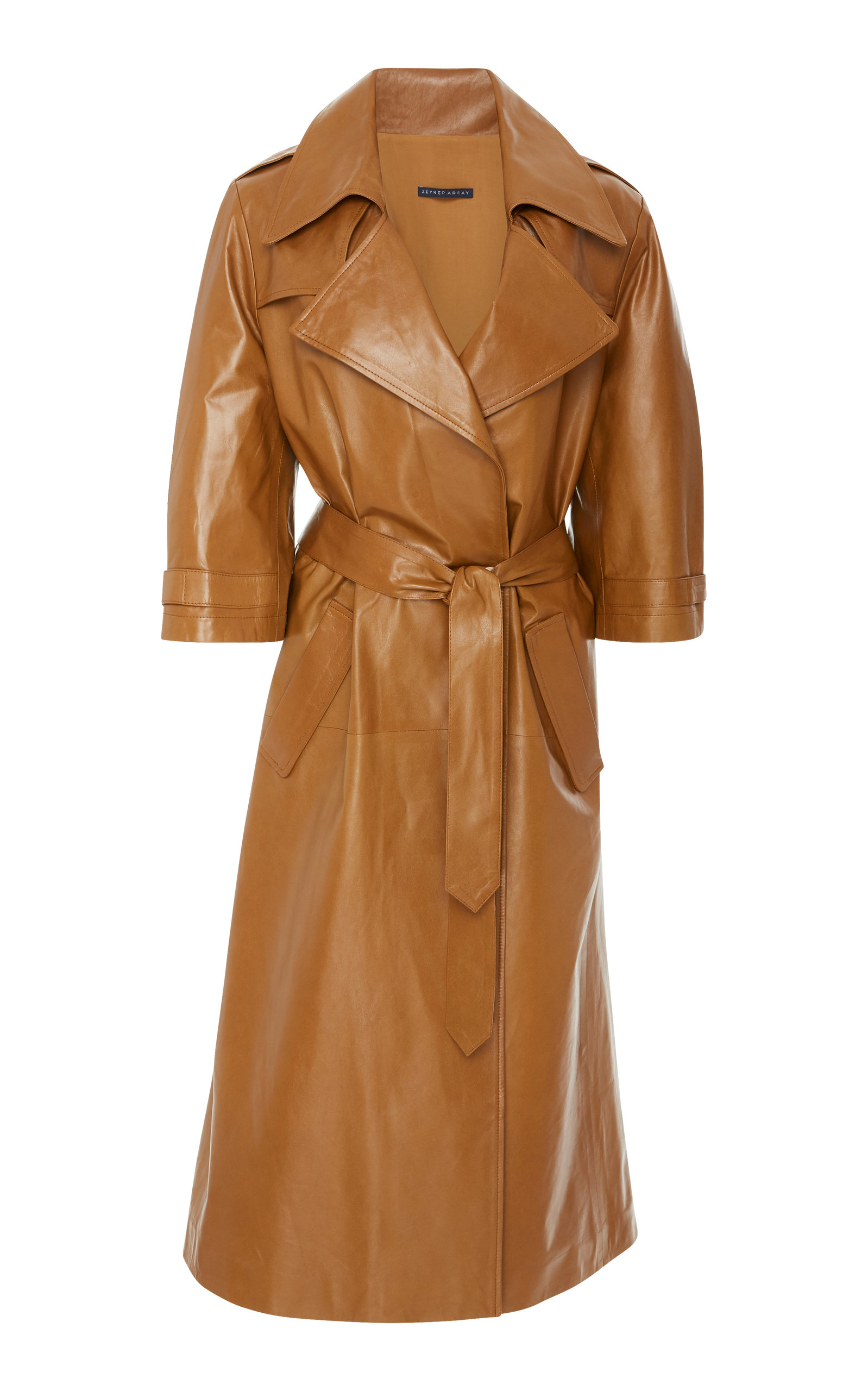 OVERSIZED LEATHER TRENCH COAT