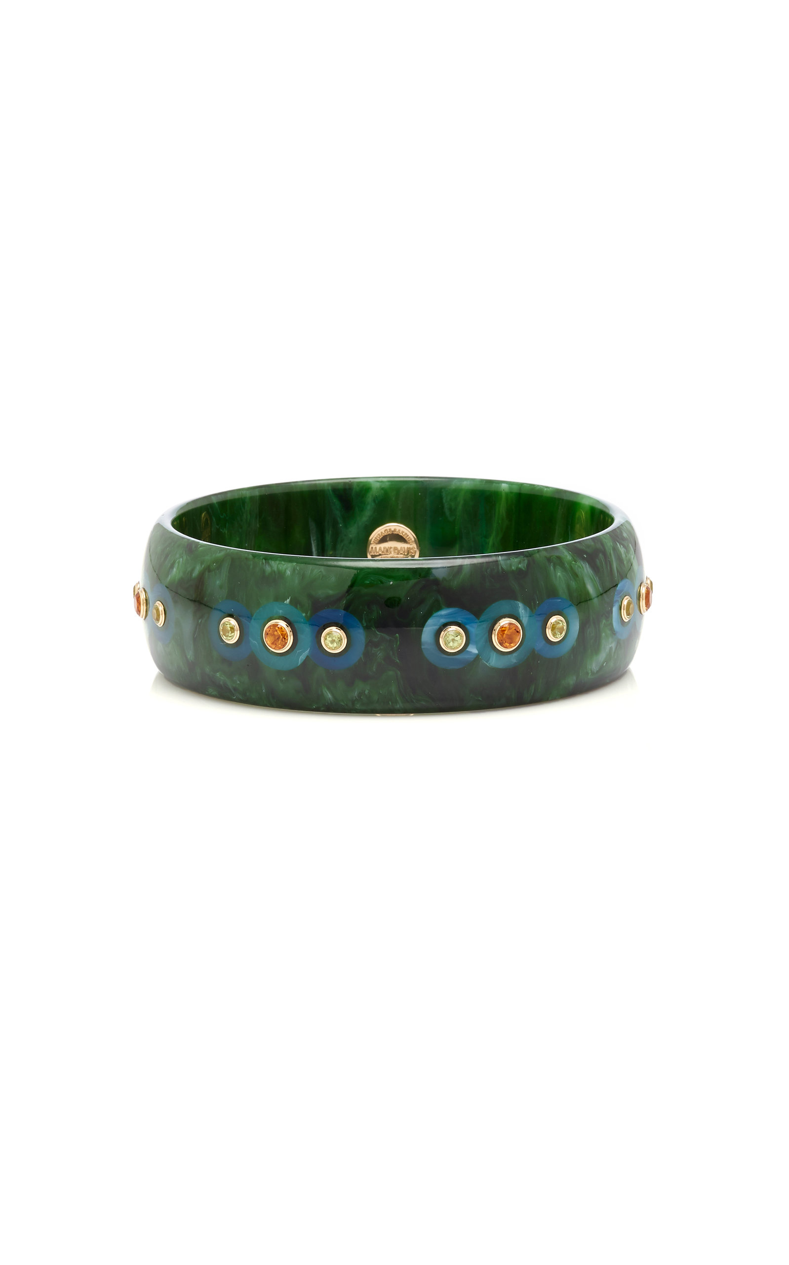 MARK DAVIS M'O EXCLUSIVE: ONE-OF-A-KIND GREEN WIDE CARLYLE BRACELET