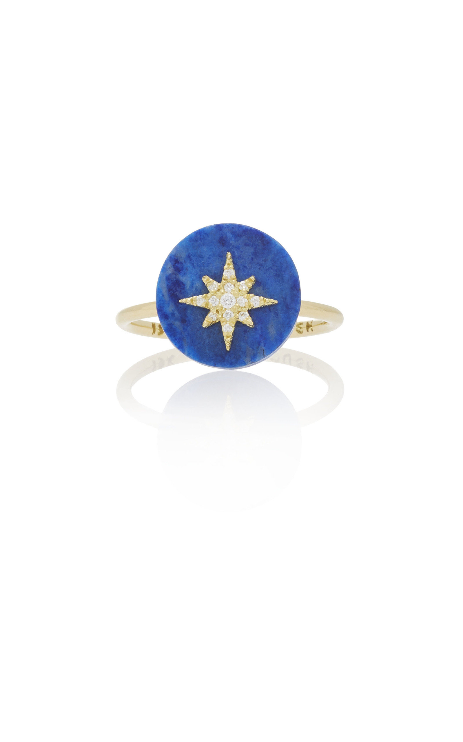 NOUSH JEWELRY Coexist Northstar On Lapis Lazuli Ring in Blue