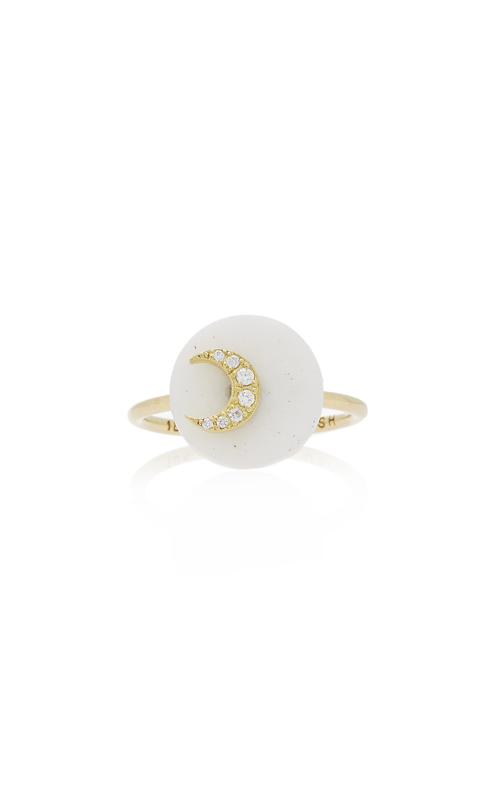 NOUSH JEWELRY COEXIST MOON ON AGATE RING