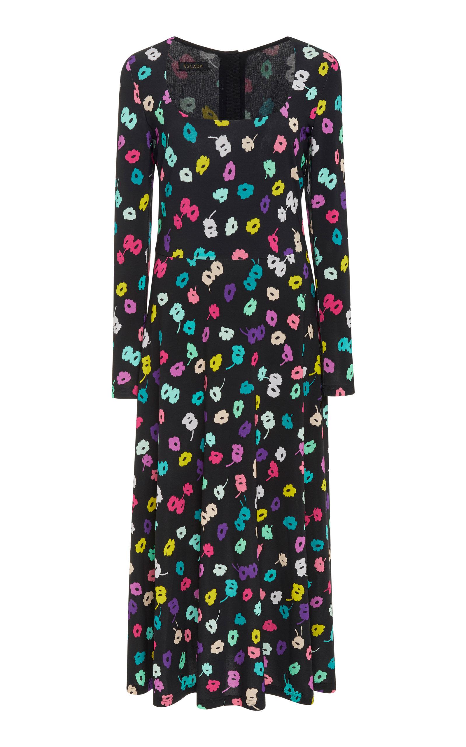 9b3b00239bea EscadaDavirr Floral Midi Dress