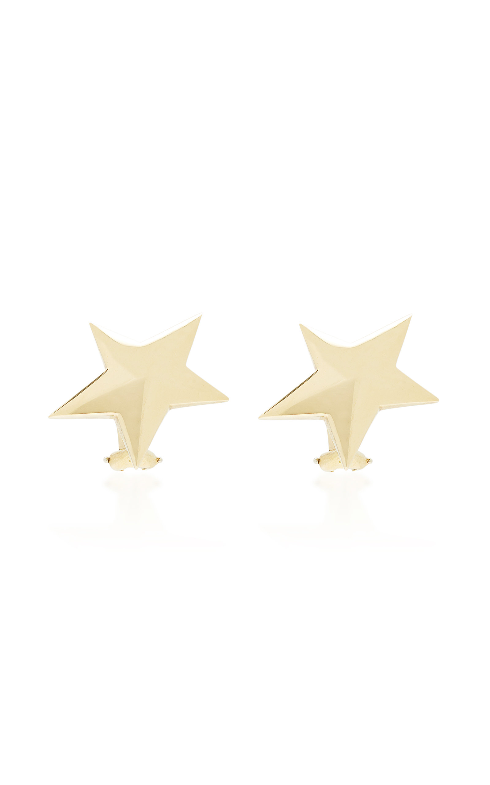MAHNAZ COLLECTION LIMITED EDITION 18K GOLD STAR EARRINGS BY ANGELA CUMMINGS FOR TIFFANY & CO. C.1980