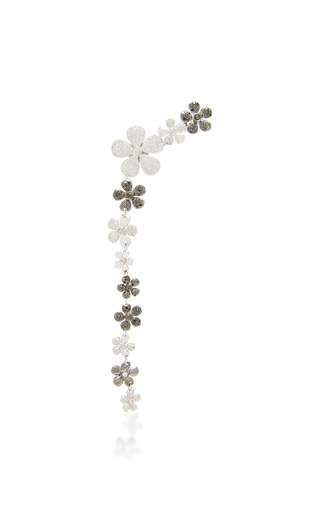 COLETTE JEWELRY | Colette Jewelry Jasmine 18K Black And White Gold And Diamond Single Drop Earring | Goxip